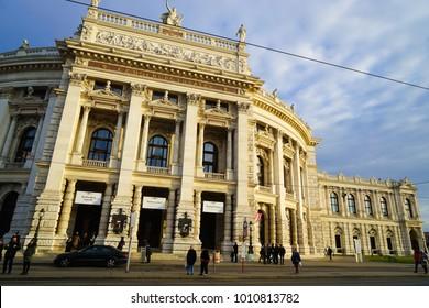 Vienna, Austria - 21 December 2017  - The Vienna Volksoper,  major opera house in Vienna, Austria.