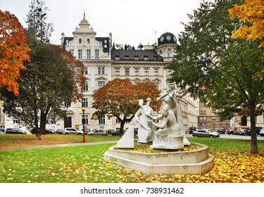 VIENNA. AUSTRIA. 21 OCTOBER 2012 : Monument to Antonio Vivaldi in Vienna. Austria