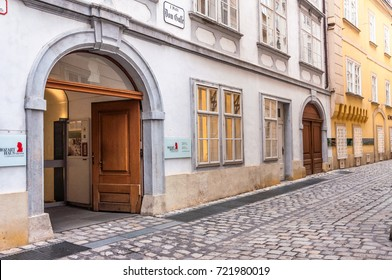 VIENNA, AUSTRIA - 21.Sept.2017: The Mozarthaus Vienna was Mozart's residence from 1784 to 1787. The house is located on Domgasse