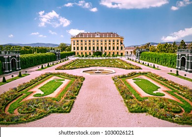 VIENNA, AUSTRIA - 22 Aug 2017: Crown prince privy garden of Schoenbrunn Palace