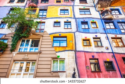 VIENNA, AUSTRIA - 22 May, 2019; Colorful Hundertwasser house photo