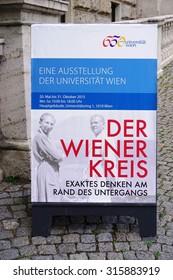 VIENNA, AUSTRIA -24 JUNE 2015- The University of Vienna (Universitat Wien), the oldest university in the German-speaking world, celebrated its 650th anniversary in 2015.