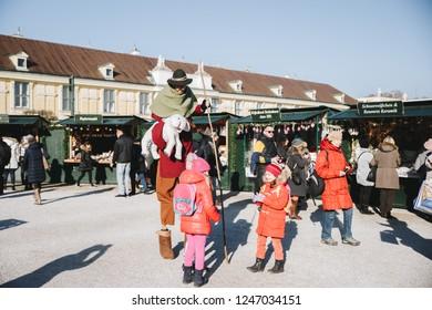 Vienna, Austria; 29/11/2018: Christmas Market in Vienna