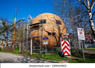 VIENNA, AUSTRIA - APRIL, 2018: Republik Kugelmugel a micronation located at the Prater in Vienna