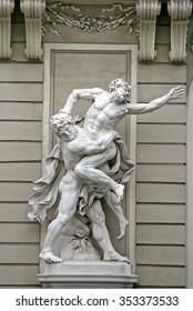 VIENNA, AUSTRIA - APRIL 23, 2010: Sculptures Hercules Wrestling Antaeus near the Hofburg Palace in Vienna, Austria