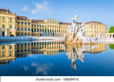 Vienna, Austria - April 30, 2017: Schoenbrunn Palace, Vienna, Austria