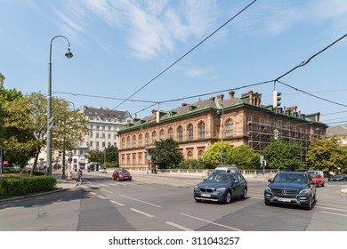 VIENNA, AUSTRIA - AUGUST 04, 2015: Rush Hour Traffic On Downtown Streets Of Vienna City.