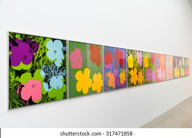 VIENNA, AUSTRIA - AUGUST 06, 2015: Andy Warhol Paintings At Mumok Museum Of Modern Arts In Vienna. Andy Warhol was an American artist who was a leading figure in visual art movement known as pop art.