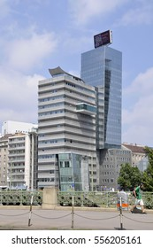 VIENNA, AUSTRIA - AUGUST 07, 2011: Modern skyscrapers, in the center of the city