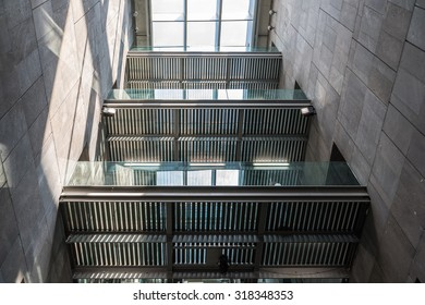 VIENNA, AUSTRIA - AUGUST 08, 2015: Mumok (Museum Moderner Kunst) Or Museum of Modern Art is a museum in the Museumsquartier in Vienna that has a collection of 7,000 modern and contemporary art works.