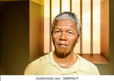 VIENNA, AUSTRIA - AUGUST 08, 2015: Nelson Mandela Figurine At Madame Tussauds Wax Museum.