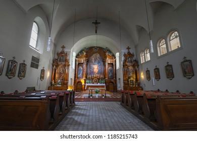 VIENNA, AUSTRIA - AUGUST 13, 2012: The Capuchin Church (Kapuzinerkirche) in Vienna, Austria is a church and monastery run by the Order of Friars Minor Capuchin.