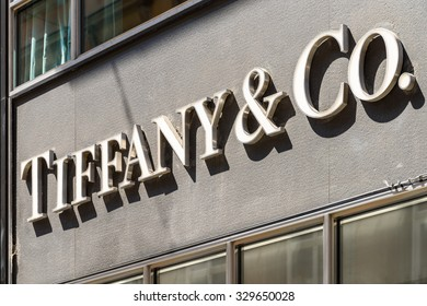 VIENNA, AUSTRIA - AUGUST 15, 2015: Tiffany & Company (Tiffany or Tiffany's) is an American worldwide luxury jewelry and specialty retailer, headquartered in New York City.