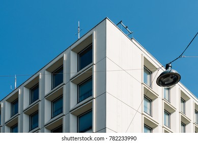 Vienna,  Austria - August 16, 2017: Low angle view of Landespolizeidirektion building. It is the headquarter of the Police in Vienna