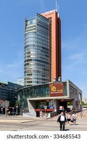VIENNA, AUSTRIA - AUGUST 20, 2015: Unisys Andromeda Tower Skyscraper In Donaucity District Of Vienna City. Unisys is an American global information technology that provides IT services and software.