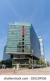 VIENNA, AUSTRIA - AUGUST 20, 2015: Strabag is an European construction company and is the largest construction company in Austria and one of the largest construction companies in Europe.
