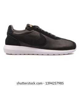 VIENNA, AUSTRIA - AUGUST 30, 2017: Nike Roshe LD 1000 Premium QS black sneaker on white background.