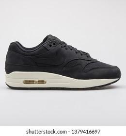 d63bddad89 VIENNA, AUSTRIA - AUGUST 7, 2017: Nike Air Max 1 Pinnacle black sneaker