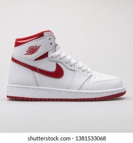 online store 86857 aa5d2 VIENNA, AUSTRIA - AUGUST 7, 2017  Nike Air Jordan 1 Retro High OG
