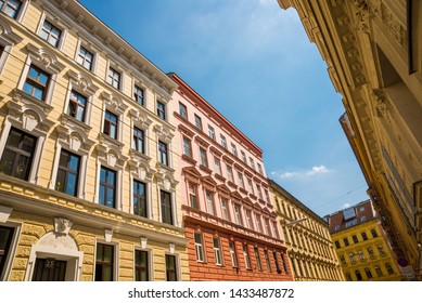 Vienna, Austria: Beautiful Street in the city in the classical style architecture of the building