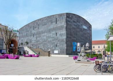 VIENNA, AUSTRIA - CIRCA APRIL 2018: Mumok (Museum of Modern Art) museum in Wien