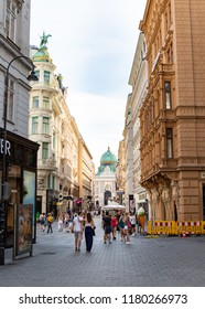 Vienna, Austria - Circa July 2018: View of a street in Vienna.