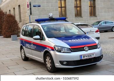 VIENNA, AUSTRIA - DECEMBER 2, 2015: Police car