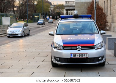 VIENNA, AUSTRIA - DECEMBER 2, 2015: Police car
