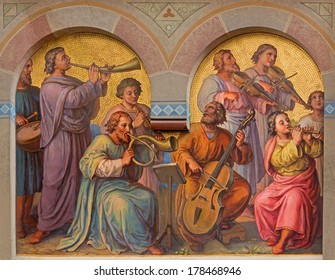 VIENNA, AUSTRIA - FEBRUARY 17, 2014: Choir of holys in the heaven by Josef Kastner from 1906 - 1911 in Carmelites church in Dobling.