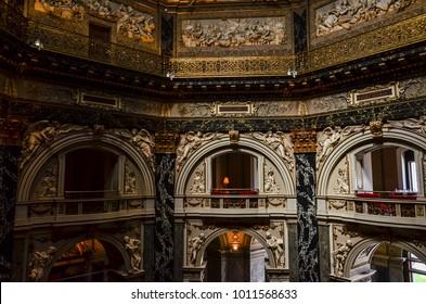 Vienna, Austria - July 21, 2017: Interior of Kunsthistorisches Museum Wien (Art History Museum)