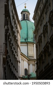 Vienna, Austria - July 25, 2019: Beautiful architecture in Old Town, Innere Stadt district