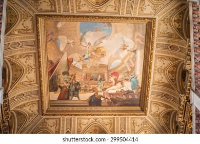 VIENNA, AUSTRIA - JULY 5, 2015: Interior of the Kunsthistorisches Museum (Museum of Art History). It was open in 1891