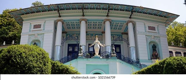 Vienna, Austria - July 6 2017: Ernst Fuchs-Museum (Otto-Wagner-Villa)