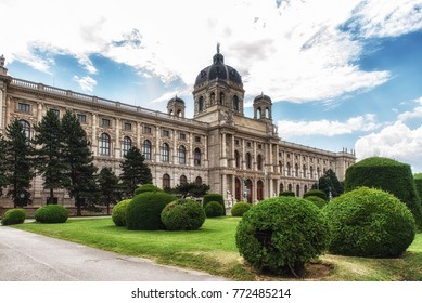 Vienna, Austria ,July 9, 2017:Museum of Natural History (German: Naturhistorisches Museum), This large natural history museum located in Vienna covers 8,700 square metres and houses over 30 millionn