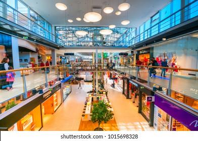 VIENNA, AUSTRIA - JUNE 07, 2017: Danube Center shopping mall (Donau Zentrum)