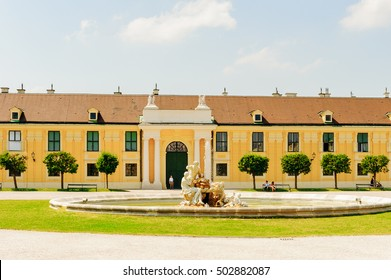 VIENNA, AUSTRIA - JUNE 17: One of the fountains of the Schonbrunn Palace on June, 17, 2013 in Vienna, Austria. It was a royal residence of Franz Joseph and Elisabeth
