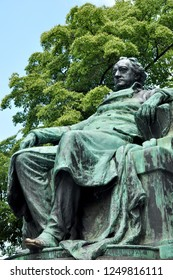 Vienna, Austria - JUNE 2017. Statue of Goethe (Johann Wolfgang von Goethe) German writer and poet in Vienna, Austria