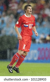 VIENNA, AUSTRIA - JUNE 26:  Andrei Arshavin of Russia in action during a UEFA Euro 2008 soccer match June 26, 2008 in Vienna, Austria.  Editorial use only.