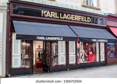 VIENNA, AUSTRIA - JUNE 28, 2018: Karl Lagerfeld store in Vienna, Austria.