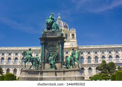 VIENNA, AUSTRIA - June 30, 2019: Monument to Maria Theresia in Vienna