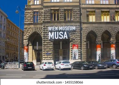 VIENNA, AUSTRIA - June 30, 2019: Wien Museum MUSA in Old town of Vienna