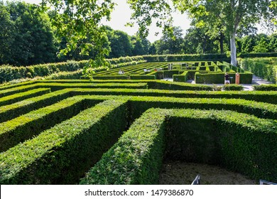 Vienna, Austria – June 5th 2019: Maze in Schonbrunn Palace or Schloss Schoenbrunn is an imperial residence in Vienna, Austria. Schonbrunn Palace is a major tourist attraction in Vienna, Austria.