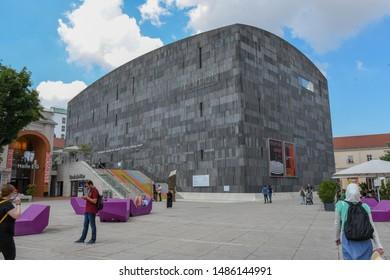 Vienna, Austria – June 5th 2019: Mumok Museum Modern Kunst - Museum of Modern Art in the Museumquartier, Vienna, Austria. Established in 2001