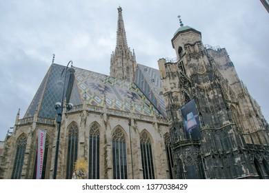 VIENNA, AUSTRIA - MARCH, 16 2019: St. Stephan's Cathedral, Vienna, Austria