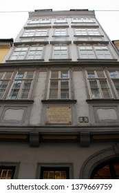 VIENNA, AUSTRIA - MARCH 16, 2019: The Mozarthaus in Vienna, Mozart's residence from 1784 to 1787 and it is a museum now