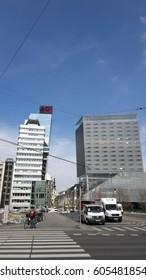 VIENNA, AUSTRIA - MARCH 21, 2017: Modern architecture in the city center
