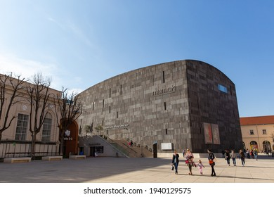 Vienna, Austria - March 22 2019: The outlook of Museum moderner Kunst Stiftung Ludwig Wien