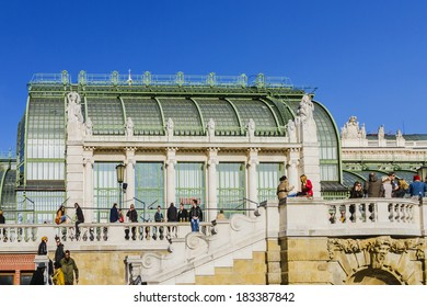 VIENNA, AUSTRIA - MARCH 8, 2014: Schmetterling haus in Vienna. Located in centre of town Butterfly House is one of premier attractions. Butterfly House was the Kaisers private botanical garden.