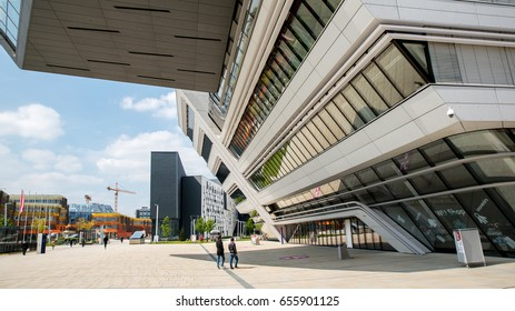 VIENNA, AUSTRIA - MAY 02, 2017: Library and Learning Center by Zaha Hadid Of Vienna University of Economics and Business (Wirtschaftsuniversitat Wien)
