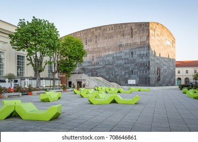 Vienna, Austria - May 1, 2017: Museumsquartier MQ at Vienna